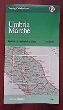 D17> Carta stradale Touring Club Italiano Umbria e Marche  anno 1980