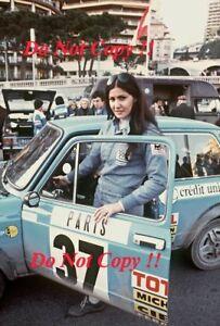 Michele Mouton Autobianchi A112 Abarth Monte Carlo Rally 1977 Photograph 1