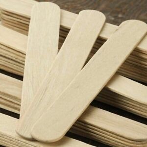 JUMBO Wooden Lolly, Lollypop Sticks. Natural craft model making 150mm x 18mm