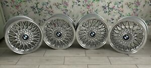 "Genuine BMW E30 325i 15"" Style 5 BBS 4 Stud Alloy Wheels Set"