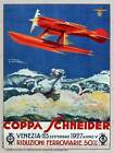 EXHIBITION SPORT SCHNEIDER CUP AIRPLANE AEROPLANE VENICE ITALY AD POSTER 1768PY