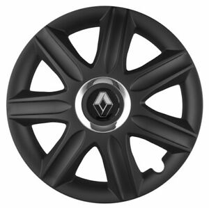 "16"" Whell trims wheel covers fit Renault Trafic 4x16'' inches black matt"