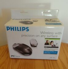 PC Gear Philips Wireless Optical Mouse W/Cradle Charger NIB PA 1039