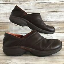 Merrell  Womens 9M Primo Patch Brown Leather Loafer Slip On Casual