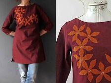Fabindia Burgandy Orange Cotton Tunic Dress NWT Buy 3+ items for free Postage