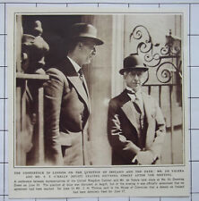 1932 Mr De Valera & Mr S T O'Kelly Leaving Downing Street Meeting Ireland & Oath