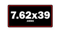 7.62x39 ammo label can vinyl sticker decal bumper gun bullet glock rifle ar15