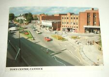 Vintage Colour Postcard ~ Town Centre, Cannock, Staffs by I.B.Dewar