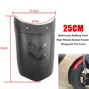 25CM ABS Motorcycle Refitting Front Rear Wheels Extend Mudguard Tire Cover Part
