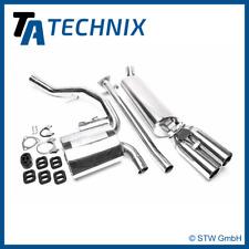 TA Technix Sistema de escape de acero inoxidable 2x76mm-OPEL CALIBRA A