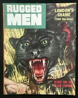 RUGGED MEN - Apr 1956 - Pulp / Men's Interest / Adventure Magazine BLACK LEOPARD