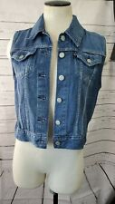 Levis Sleeveless  Denim Vest Jean Jacket Women's Size M