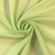 Soft Poly Chiffon Fabric (Lime Green) - By The Yard - Sheer- Wholesale Price