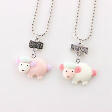 2PCs/set Kids Best Friends Necklace Sheep Pendant Necklace For Child Jewellery