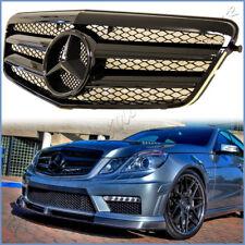 AMG Look All Shiny Black Front Grille For 10-13 W212 Benz E63 E250 E550 E350 4DR