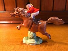 "JOHN BESWICK THELWELL GALLOPING PONY ""THE GREATEST BROWN"" & RIDER FIGURINE"