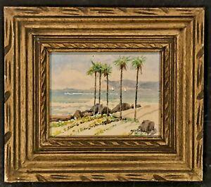 Maurice Logan (1886-1977) - Original Watercolor Painting California Coastal View