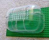 LEGO - Rare - 6 Trans-Clear 6x6x9 Pieces - MOC Greenhouse Microbuild Dome Train