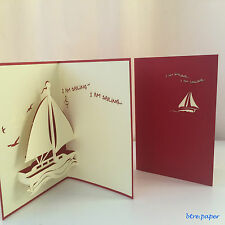 bon voyage pop up card 3D card sailing safe trip happy holidays