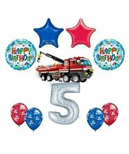 10 pc LEGO CITY Fire Engine Firetruck 5th Birthday Party Balloon Kit Kit