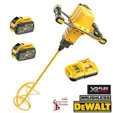 DeWalt DCD240X2 FLEXVOLT 54v XR Brushless 160mm M14 Paddle Mixer Kit 2 x 9Ah