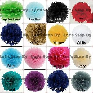 "11X Tissue Paper Pom-Poms 8"" Flower Ball Wedding Party Home Crafts Decoration"