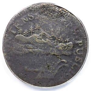 1786 RR-6 R-3 ANACS F 12 Details VERMONTENSIUM Vermont Colonial Copper Coin