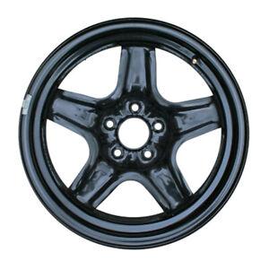 """New Replacement 17"""" 17x7 Black Steel Wheel Rim G6 Malibu - 5x110mm - 8075"""