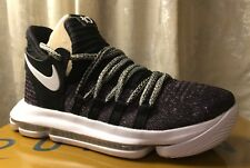 Nike Zoom Kd 10 X 'Huella digital' 897815-001 Oreo Size UK 5 EU 38 nos 5.5Y Nuevo