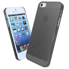 0.3mm Ultra Thin Slim Matte Black Clear plastic Case for iPhone 5 5S