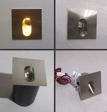 SEGNA PASSO QUADRATO MINI SPOT LED ORIENTATO uso interno da 1 W - luce calda