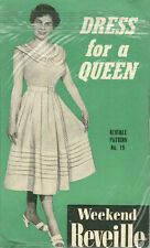 """Vintage Dress for a Queen Sewing Pattern Reveille 19 Size 34"""""""