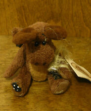 Ganz Cottage  #CC1388 CHRISTMAS MOOSE, by Lorraine Chien, NEW From Retail Store