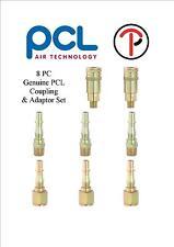 PCL 1/4 MASCHIO INNESTI x2 baionette ADATTATORI X6 8PZ aria strumento TUBO ac91cm aca2593