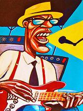 SLEEPY JOHN ESTES PRINT poster newport blues cd folk festival concert guitar amp