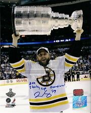 Rich Peverley Bruins raising Stanley Cup over head signed 16x20 w/ inscription
