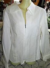 Christopher & Banks Ivory Long Sleeve Tunic/ Top Sz. XL .
