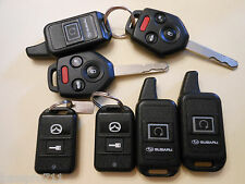 LOT OF 7 SUBARU AND MAZDA KEYLESS KEY REMOTE BUTTON THIS IS A MIXTURE OF REMOTES
