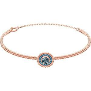 NWT SWAROVSKI Gray Crystal Oxygen Rose Gold Tone Plated Bangle Bracelet 5470970