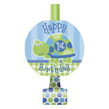 8 Blue Turtle Boy's Happy 1st Birthday Party Favor Loot Blowouts