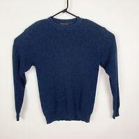 Geoffrey Beene Men's Knit Sweater Long Sleeve Navy Blue Size Large