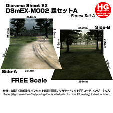 [HAKONIWAGIKEN DSmEX-M002 515x364mm] Diorama sheet mini-EX HG Forest set A