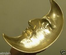 Art Nouveau Man in the Moon Crescent Pin Ash tray  brass