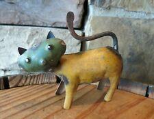 Recycled Industrial Miniature Scrap Metal Cat, 3.5