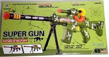 MILITARY SUPER GUN TOY ELECTRIC GUN FLASHING LIGHTS & MUSIC IN REAL ARMY COLOUR