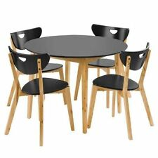 Fixed Round Table & Chair Sets with 5 Pieces