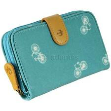 Brakeburn Bikes Wallet Purse : Zip Around : Teal : Coated Canvas : Free Delivery