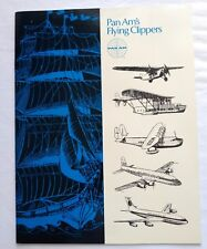 Vintage Pan Am Flying Clipper Airplane Airline Brochure 1960s