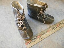 Antique Victorian Dress Leather Boots for Fashion Bru Jumeau French Bisque Doll