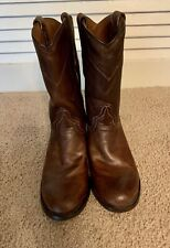 Resistol Ranch Lucchese Ladies  7 B Brown Roper Cowboy Boots
